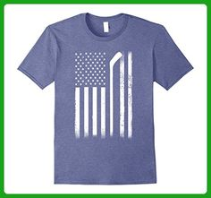Mens Usa American Flag Hockey Shirt- 4th Of July Shirts Small Heather Blue - Sports shirts (*Amazon Partner-Link)