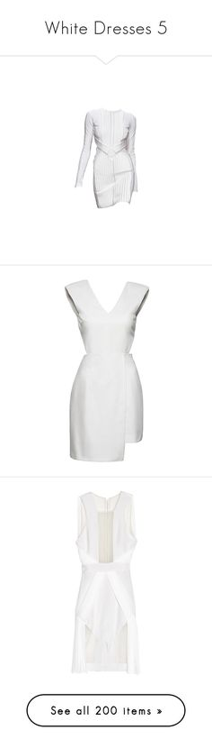 """""""White Dresses 5"""" by kingcrimson ❤ liked on Polyvore featuring dresses, vestidos, short dresses, dolls, short babydoll dresses, babydoll summer dresses, white mini dress, short white dresses, summer mini dresses and dion lee"""