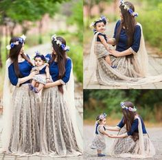 25 Coolest Matching Outfits For Pakistani Mother Daughter - Part 2 Mom Daughter Matching Dresses, Mom And Baby Dresses, Girls Dresses, Outfits Madre E Hija, Mother Daughter Fashion, Mother Daughters, Outfit Trends, Indian Outfits, Kids Outfits