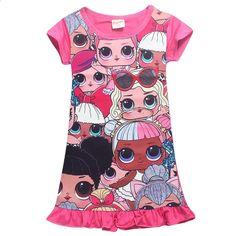 Sommar tjejer klänning tecknad baby flickor klänning prinsessa klänning  baby flicka sommar kläder Födelsedag kväll fest unicorn party klänningar d4474dcba86f3