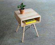 Mid Century Modern Inspired Side Table in Wood Furniture
