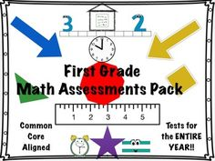 Math test for every 1st Grade CC objective • answer keys included • student tracking sheet for easy tracking & differentiation
