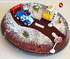 Jahre} Sein Geburtstag Robocar Poli - Cherry on the Cradle Peanut Butter Birthday Cake, Vanilla Birthday Cake Recipe, Easy Birthday Cake Recipes, Funny Birthday Cakes, Unique Birthday Cakes, Cookie Cake Birthday, Homemade Birthday Cakes, Homemade Cake Recipes, Easy Cake Decorating