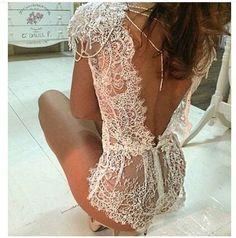 underwear bodysuit white wedding lace laced lingerie More