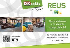 """OK sofás presentes en la """"Fira centre comercial de Reus"""". Acércate a visitarnos y #siéntete muy de ok en nuestros #sofás. http://www.lafiracentrecomercial.com/ http://www.oksofás.es"""