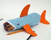 Shark Pencil Case - Fun Zipper Pouch - Unique Kids Gift Idea: Rainy Day Shark Bite