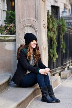 """This blazer over a hoodie and graphic tee is fantastic for running weekend errands. I love the idea of layering pieces that seem like they wouldn't otherwise go together.""""  —Christin Schindewolf, With a CH"""
