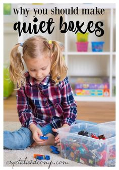 This looks like great quiet fun for children! We need quiet fun in this large family home. ;) why you should make quiet boxes