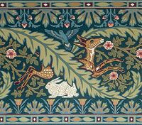 William Morris Deer & Rabbit Frieze (wallpaper border)