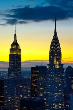 The Empire State Building and the Chrysler Building