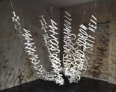Typographic sculpture by Ebon Heath is amazing!