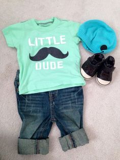 I so want this outfit for baby boy. Baby Outfits, Outfits Niños, Kids Outfits, Baby Boys, Toddler Boys, Baby Boy Fashion, Kids Fashion, My Bebe, Baby Kind