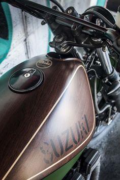 Awesome! Suzuki GS400 Street Tracker ''TrackerWood'' by Shaka Garage. Good day! #motorcycles #streettracker #motos | caferacerpasion.com