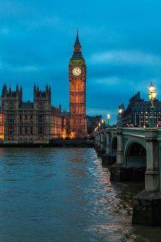 London - Big Ben Blues, via Flickr.  Westminster Palace, London, England