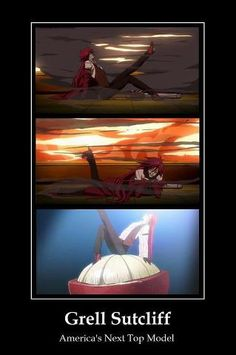 Black Butler ~~ Work it, Grell! The camera loves you!