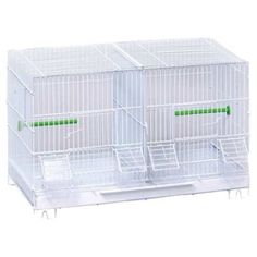 Breeder Bird Cage Finches Cockatiels Parakeet Small Birds Pet White Divided Home Prevuepetproducts
