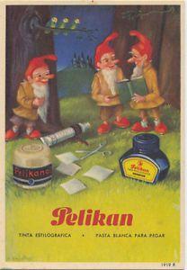 Secante.Publicidad de Pelikan tinta estilográfica y pasta blanca de pegar. 1919. | eBay