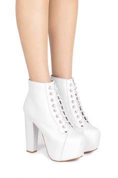 Jeffrey Campbell Shoes LITA Vault in White White