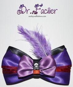 Facilier Hair Bow on Etsy Disney Hair Bows, Adornos Halloween, Disney Crafts, Fabric Ribbon, Balloon Decorations, Disney Inspired, Disney Trips, Headbands, Diy And Crafts