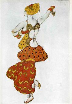 Леон Бакст - Эскиз костюма к балету Шехерезада - Одалиска (1910)