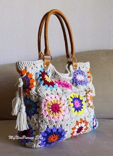 Crazy for arts - Bags: CROCHE BAG WITH DETAILS