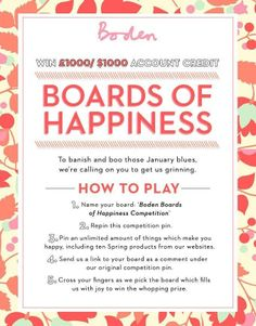 Boden Boards of Happiness competition