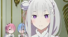 Emilia with Rem & Ram. Re: Zero