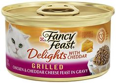 Fancy Feast Delights with Cheddar, Grilled, 3-Ounce Cans, Pack of 24 -- To view further for this item, visit the image link. (This is an affiliate link and I receive a commission for the sales)