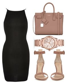 """""""All of these sins disguised as Blessings."""" by bria-myell ❤ liked on Polyvore featuring River Island, Michael Kors, Gianvito Rossi and Yves Saint Laurent"""