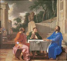 Laurent de la Hyre. L'Apparition du Christ aux pèlerins d'Emmaüs, 1656. Hst, 162,5 x 178,5cm. Musée de Grenoble.