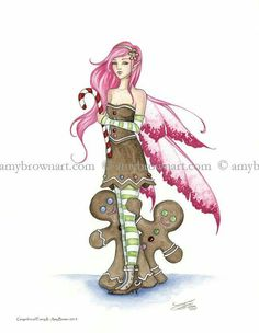 Amy Brown - Gingerbread Faery