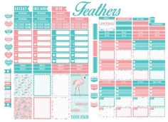 Feathers - Free Planner Printable