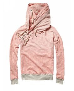 Sailor lace up sweat with double hood - Scotch & Soda