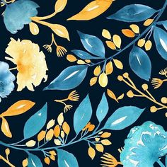noondaydesign -  Worked on some new florals this weekend.  #art #artist #artlicensing #artoflicensing #artlicensingshow #noondaydesign #watercolorpainting #painting #homedecor #design #creative #pretty #flowers #floral #garden #foliage #textiles #fabric #surfacedesign #instaart #bouquet #berries #leaves  #surfacespatterns