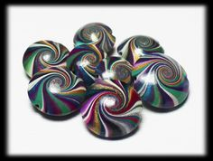 On Sale... Jewels... Handmade Polymer Clay Beads Set by Fanceethat, $16.00