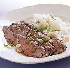 GINGER FLANK STEAK *Grill or broiler http://www.finecooking.com/recipes/ginger-flank-steak.aspx