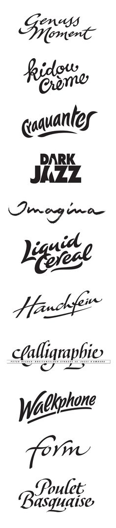 Commercial Logotypes 2 by Peter Becker, via Behance