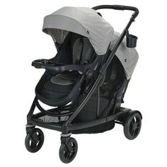 The Graco Double Stroller starts out as a single stroller and expands into a double to grow with your family. This fully featured stroller has an easy one-hand fold for storage and the main seat reclines flat to become an infant bassinet. Britax Double Stroller, Double Baby Strollers, Best Double Stroller, Single Stroller, Holding Baby, Baby Bassinet, Travel System, Prams, Triplets
