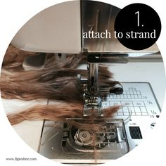 Mini tutorial on how to sew a weft with suri alpaca, via Fig and Me.