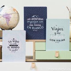 Libretas viajeras para soñar despierto #libreta #notebook #stationery #mrwonderfulshop