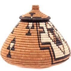 African Basket - Zulu - Ukhamba -  7.5 Inches Tall - #39111