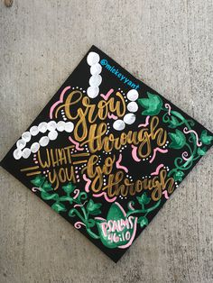Grow through what you go Through , alpha kappa alpha , grad cap Ig: @mickeyyant