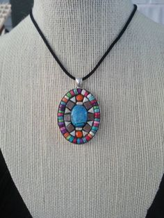 Handmade mosaic pendant / necklace by NikkiSullivanMosaics on Etsy