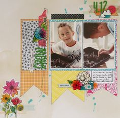 #papercraft #scrapbook #layout by leah