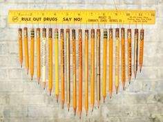 I love the sound of pencils when you roll them together, this wind chime is such a good idea!
