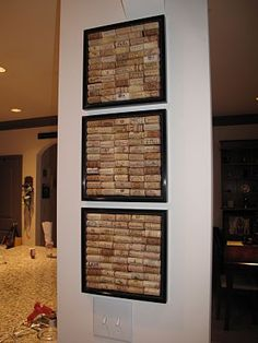 Wine Cork Wall Art: Exactly what I've been working on for our dining room!!!