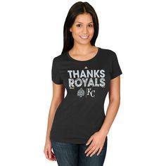 Kansas City Royals Majestic Women's 2015 MLB World Series Champions Parade T-Shirt - Black