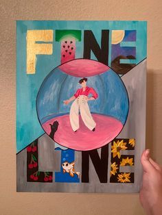 Acrylic painting inspired by Fine Line songs Easy Canvas Art, Simple Canvas Paintings, Small Canvas Art, Mini Canvas Art, Art Sketches, Art Drawings, Desenho Harry Styles, Harry Styles Drawing, Harry Styles Wallpaper