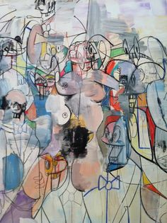 George Condo, Rush Hour (detail) on ArtStack #george-condo #art