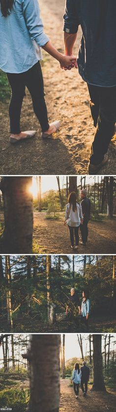 awesome Forest Engagement Session in Los Angeles | Erika & Garrett